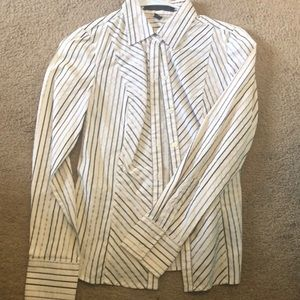 Xs Express button up white gray silver